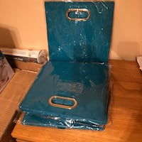 Collapsible Storage Bins. Set of 8. Brand new. Ocean Blue. Fabric New York, 11377