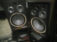 "Vintage Omega 400   12"" SUBS!! Speakers LOUD!!!"