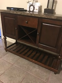 brown wooden cabinet with drawer Los Angeles, 90059