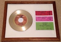 The Doors Framed Gold Record and Concert Tickets