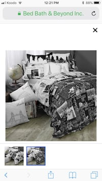 Passport London and Paris Reversible Duvet Cover Set  Airdrie, T4A 0S6