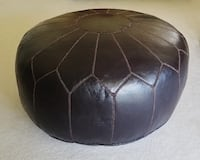Oversized All Leather Ottoman Pouf Coffee Table Cape Coral