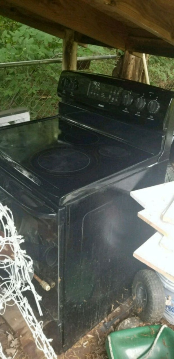 black and gray induction range oven