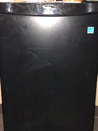 black single-door refrigerator