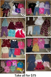 12-18 Mths Baby Girls Clothing Lot 2 (Take 61 Pieces for $75) Mississauga