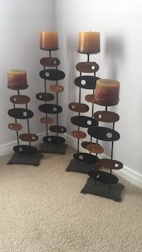 Candle holders with candles