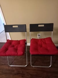 Two folding chairs with two chair pads from ikea Toronto, M2N 7C5
