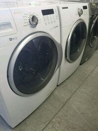 SAMSUNG WHITE STACKABLE FRONT LOAD WASHER & DRYER Toronto, M9W 5X8