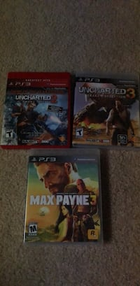 three assorted PS3 game cases Gainesville, 20155