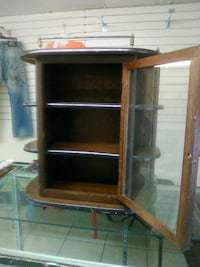 Jewelry Glass/Wooden Cabinet