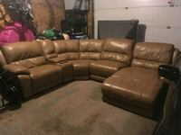 Brown leather sectional  Mississauga, L4X 1S5