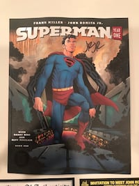 Superman Year OnE - Large Comic (Magazine Sized - Black Label DC Comics comic Signed by John Romita Jr. With COA and admission ticket Englishtown, 07726