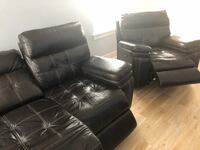 Brown leather electric reclining couch AND recliner Washington, 20002