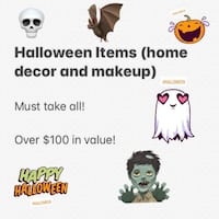 Halloween Lot - Home Decor, Wearables, and Makeup MUST TAKE ALL Burke, 22015