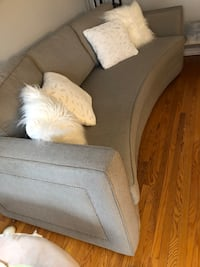 Grey two piece couch