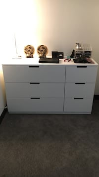 Used White Wooden 6 Drawer Dresser For Sale In Quincy Letgo