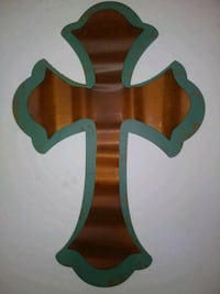 Turquoise and Copper cross Toccoa, 30577