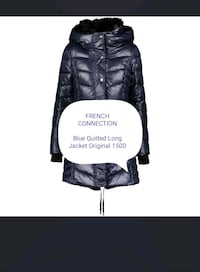 FRENCH CONNECTION  Blue Quilted Long Jacket   Rælingen, 2008