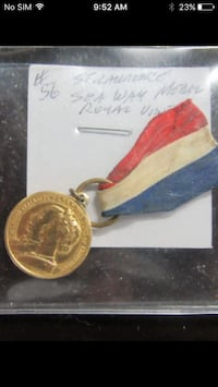 Very rare CANADA. Medal for the Royal Visit to Open the St. Lawrence Seawa Edmonton, T5N 1L1