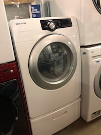 Samsung front load dryer w/ pedastal in excellent conditions Baltimore, 21223