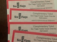 6 flags ticket Conroe, 77304