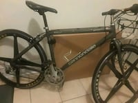 black and gray Salcano hardtail bike 224 mi