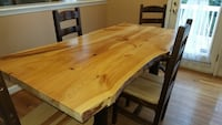 Solid pine handmade one of a kind farm table