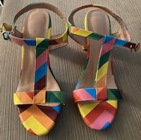 Multi color shoe.