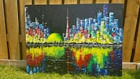 40x30 inches Handpainted Toronto skyline painting  Toronto, M6A 1J6