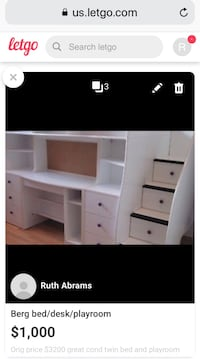 Berg Twin loft bed with storage and playroom 26 km