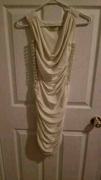 WHITE DRESS WITH SLITS ON THE SIDE Pickering