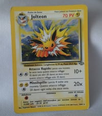 Carta Pokemon Jolteon holo set Jungle rarita 6770 km