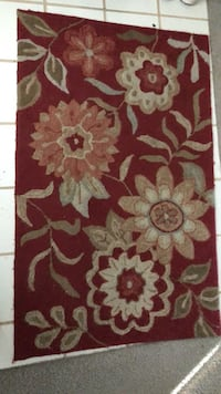 red and brown floral area rug Gulf Breeze, 32563
