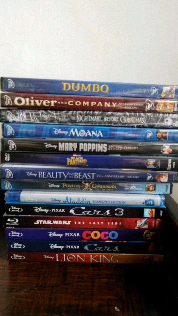 Unopened Disney DVDs and Blu ray