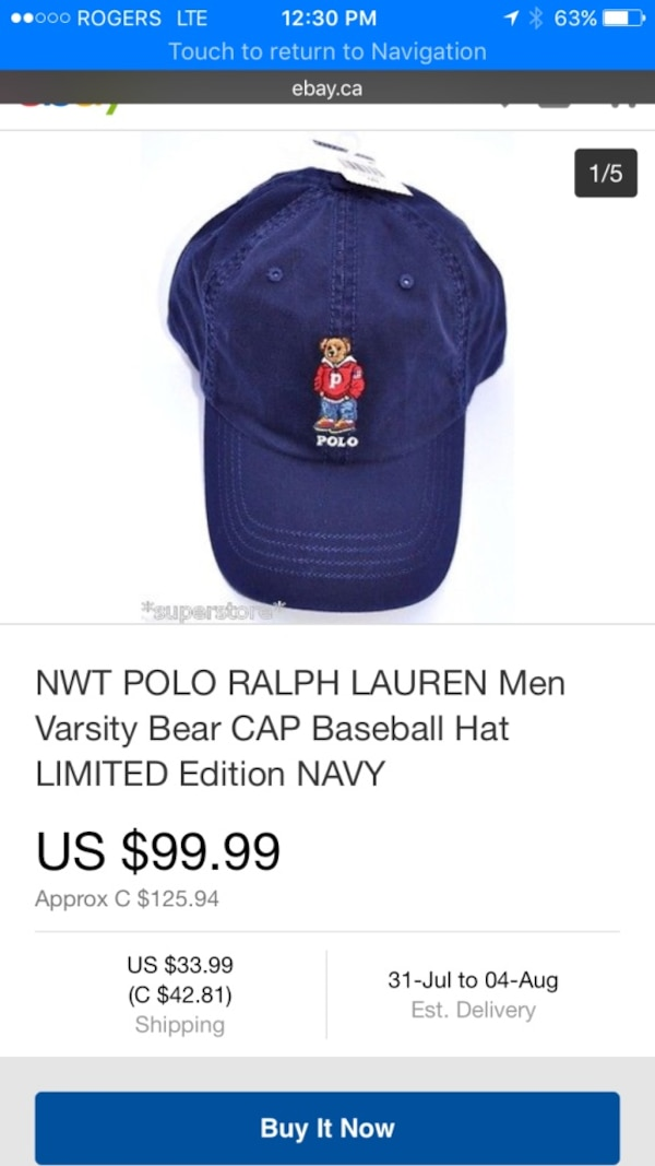 Brukt Limited Edition Polo Bear Hat til salgs i Niagara-on-the-Lake - letgo a02a77abff25