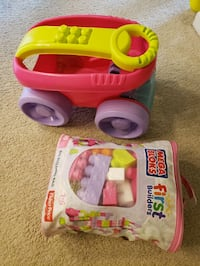Mega bloks and wagon (price is firm)