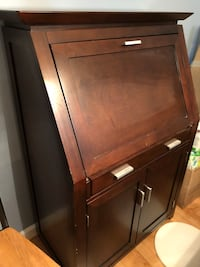 Brown wooden 2-drawer chest Bristow, 20136