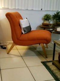 Upholstered Mid Century  Accent Chair