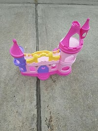 pink purple and white plastic castle toy Houston, 77095
