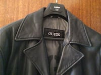 Guess black leather jacket (m)
