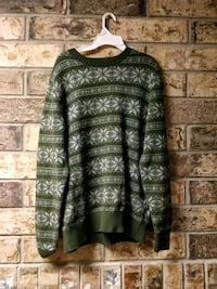 green and white floral knit crew-neck sweater Olympia, 98503
