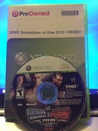 XBOX 360 WWE SMACKDOWN VS RAW 2010 San Antonio, 78237