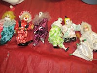 6 ceramic clown dolls Beltsville