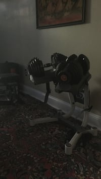 Black adjustable dumbbell Washington, 20017