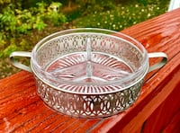 BRAND NEW Genuine Crystal Condiment Server Falls Church, 22046