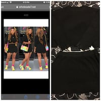 Black Long Sleeve Crop Top W/ Skirt To Match Size 2x Brand New! Montgomery, 36104