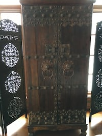 Armoire, custom made with ancient Thai Betten doors.