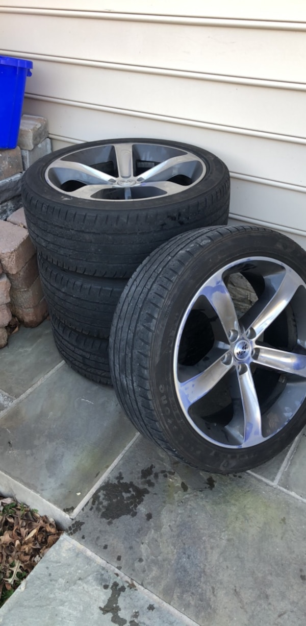 """dodge charger 20 """" rims and tires"""