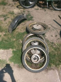 Miscellaneous 1970s Japanese motorcycle wheels