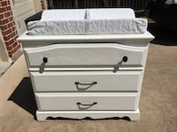 White Baby dresser and changing table